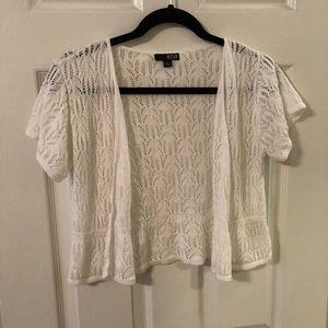 Ana short sleeve lace cardigan